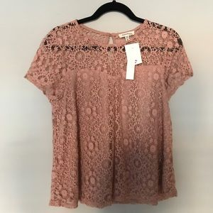 Pink Lace Babydoll Top